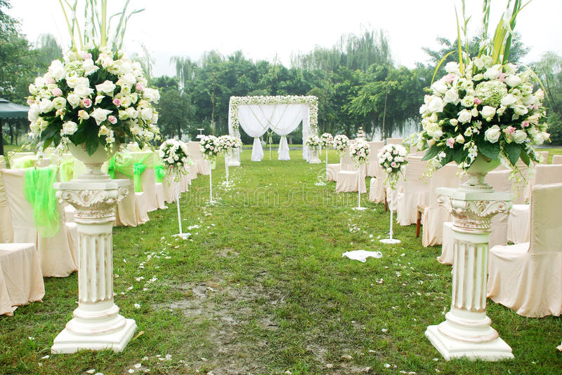 Wedding reception overview royalty free stock photography