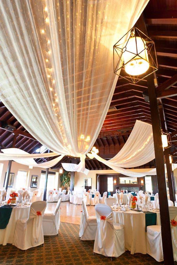 Wedding reception room royalty free stock image