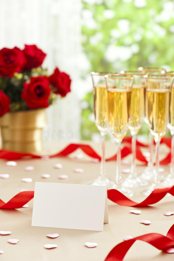 Wedding reception setting royalty free stock photo