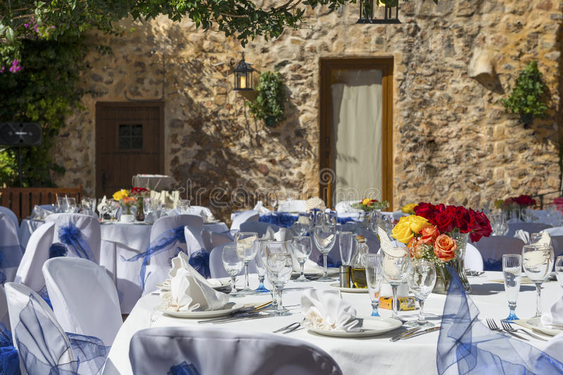 Wedding Reception in Spain royalty free stock photo