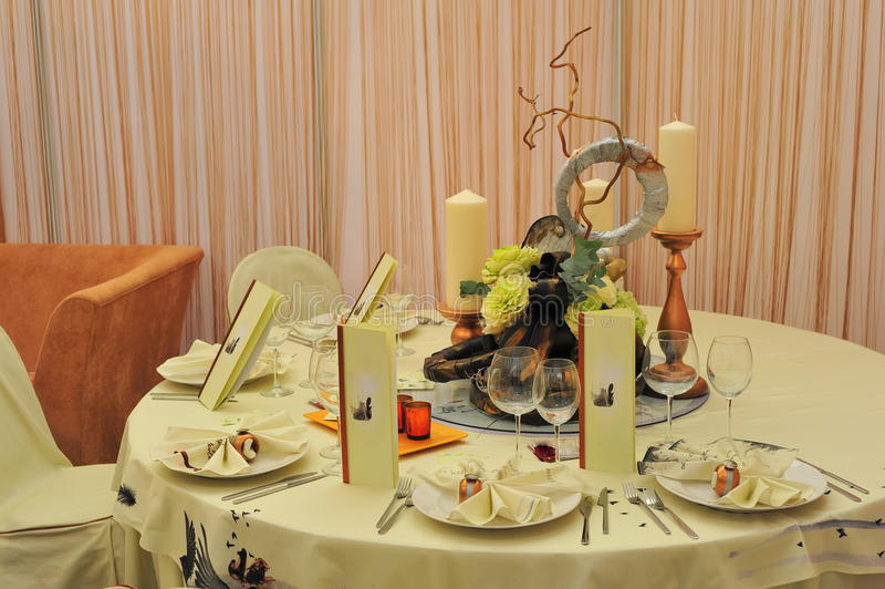 Download Wedding Reception Table Setting Stock Image - Image: 16887031