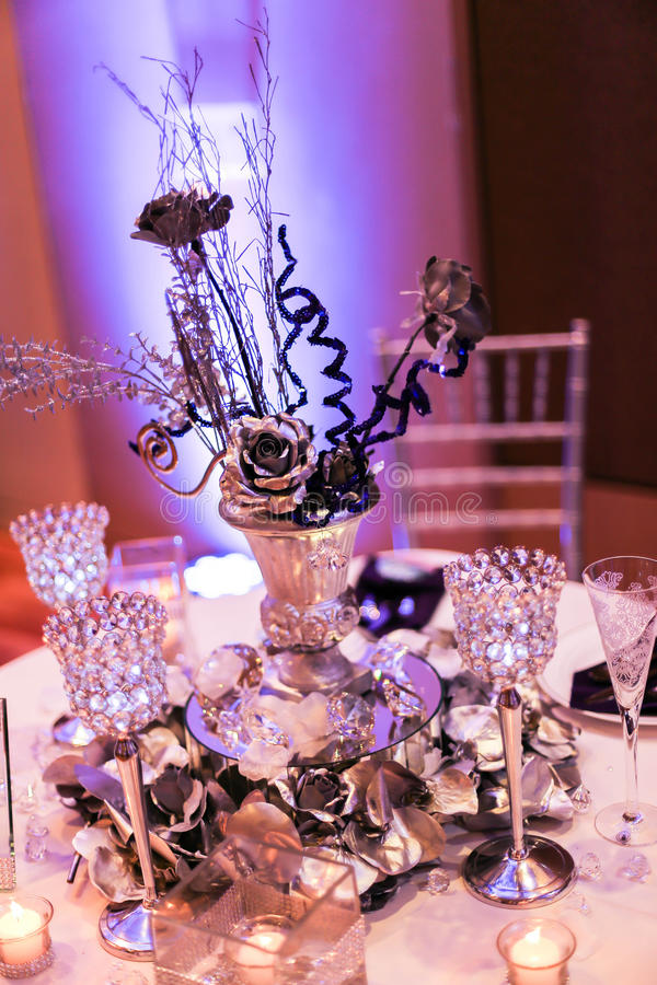 Download Wedding Reception Table Setting Stock Photo   Image Of Groom,  Goblets: 38796124