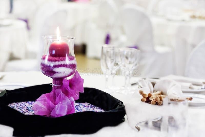 Wedding reception table stock photography