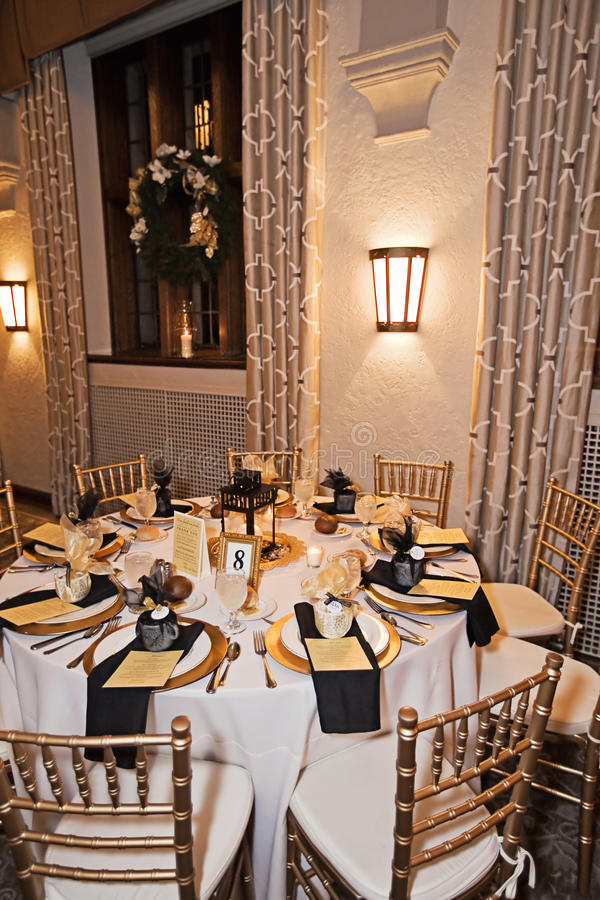 Wedding Reception Venue At Night Stock Image Image Of Evening