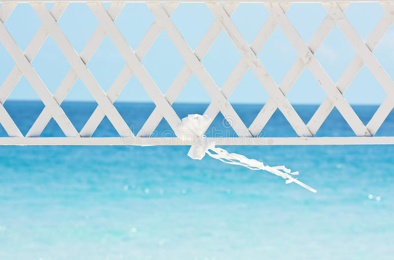 Wedding ribbon and archway stock photography