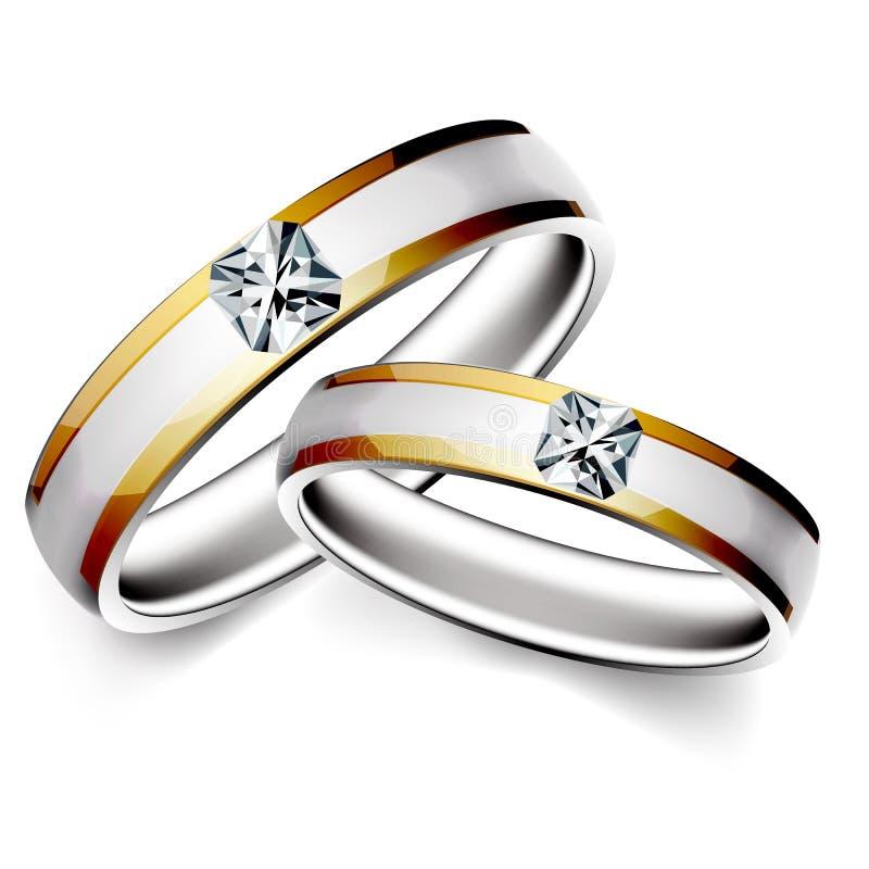 Wedding ring. Illustration of wedding ring on white background stock illustration