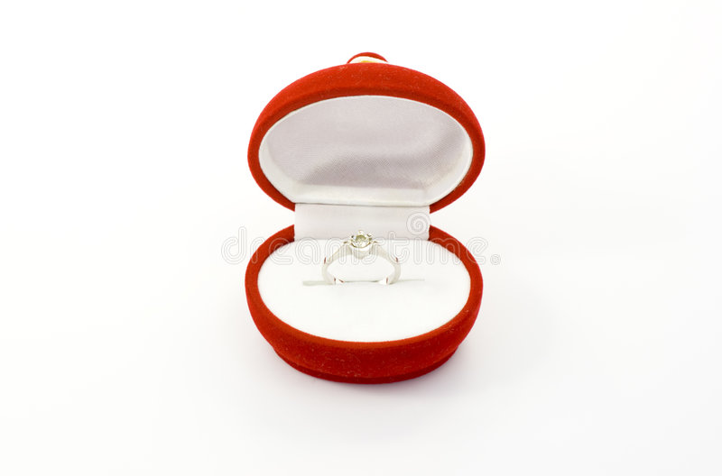 Wedding Ring and Box royalty free stock photography