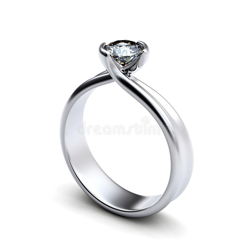Wedding Ring with diamond royalty free stock images