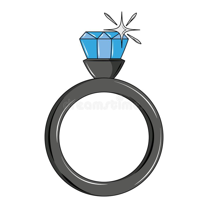 Wedding ring with diamond. Vector illustration graphic design stock illustration
