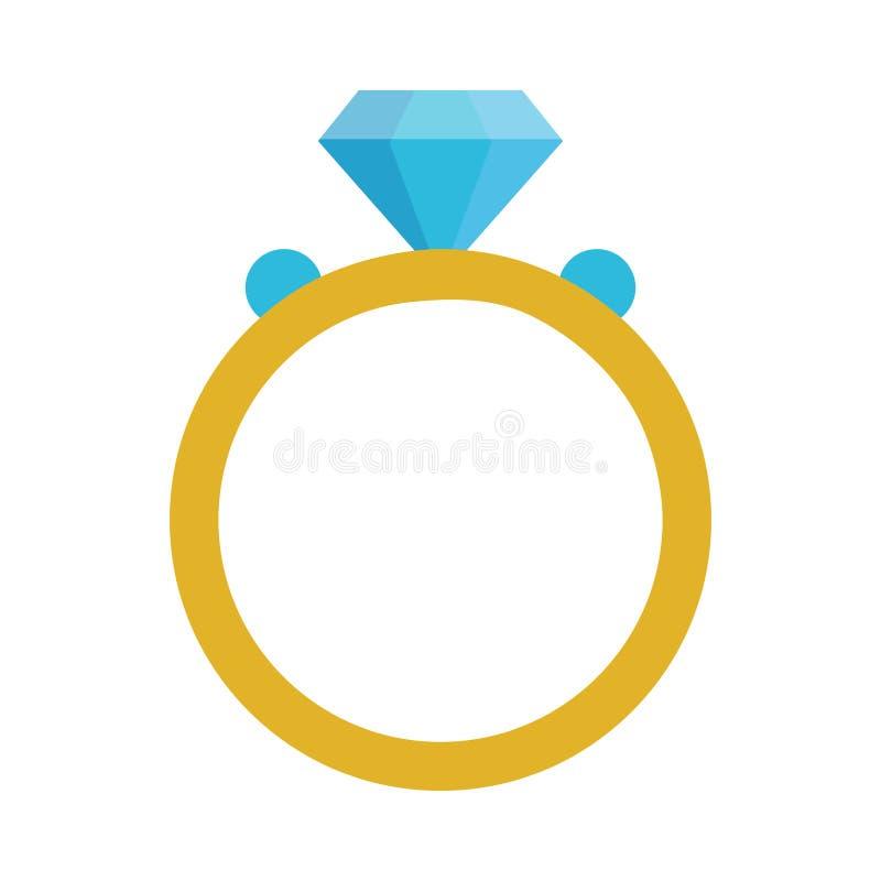 Wedding ring with diamond. Vector illustration graphic design vector illustration