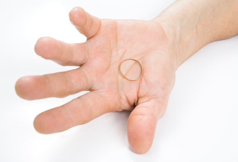 Wedding Ring - Divorce Stock Photography