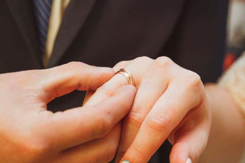 Wedding ring exchange stock image Image of grass bridal 92261777