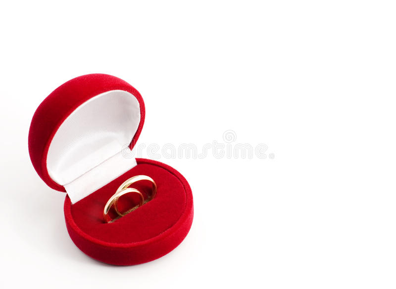 Wedding Ring In A Gift Box With Royalty Free Stock Photo