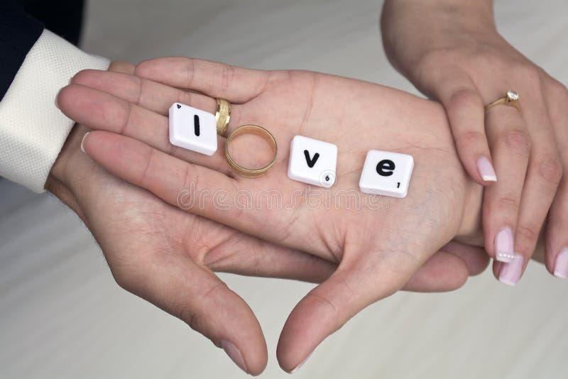 Wedding ring on hand
