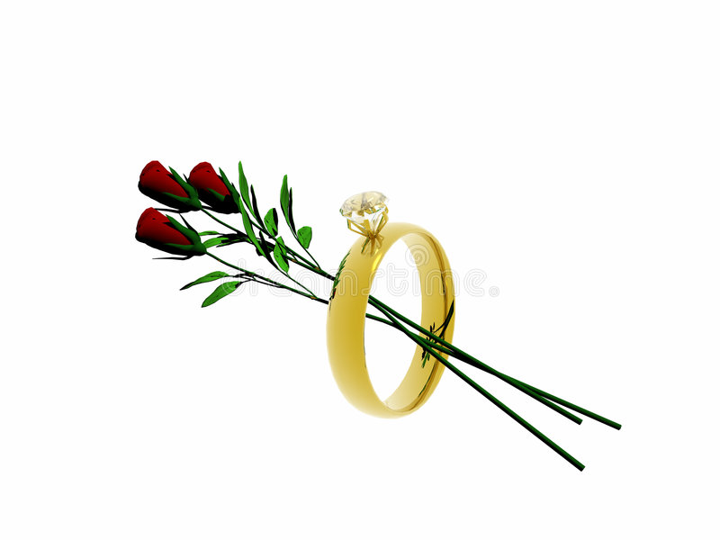 Download Wedding ring with roses. stock illustration. Image of sapphire - 179508