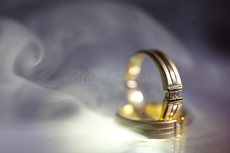 Wedding Ring with thin fogs covered up royalty free stock photos
