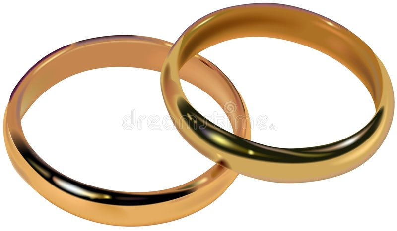 Wedding Rings 01 stock illustration