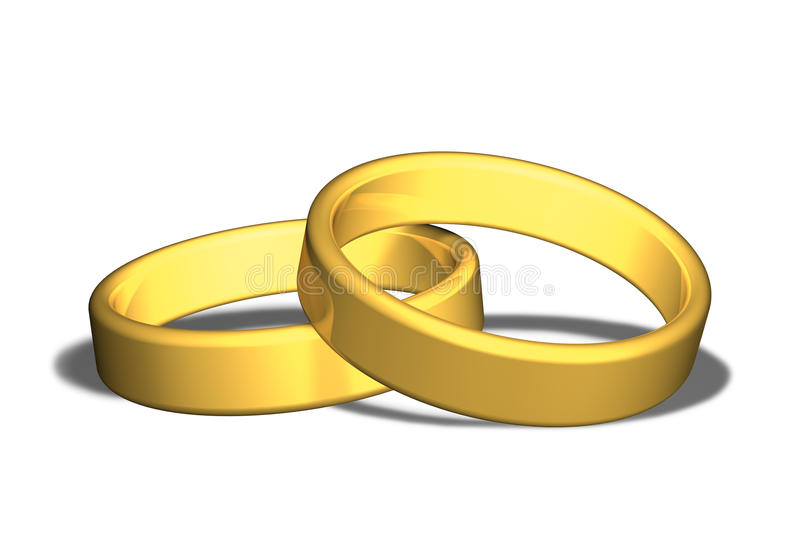 Download Wedding rings stock illustration. Image of metal, jewelry - 10845700