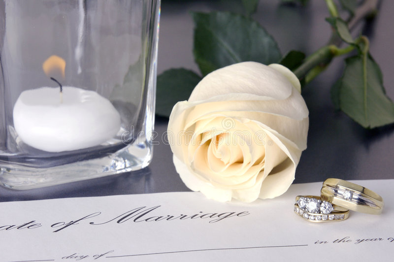 Download Wedding Rings stock photo. Image of candle, white, marriage - 1178946