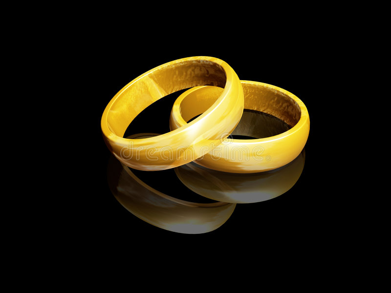 Download Wedding rings stock illustration. Image of marriage, married - 1196777