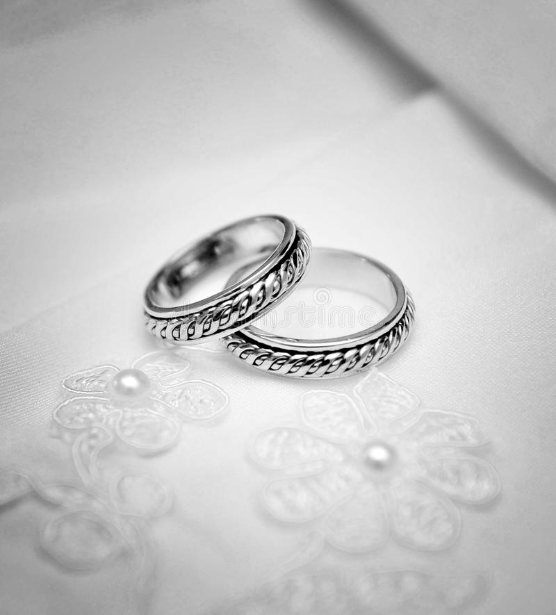 Wedding rings. Before the ceremony stock photo