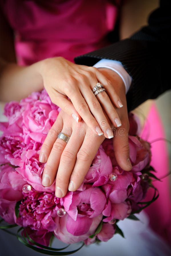 Download Wedding rings stock image. Image of ceremony, bride, human - 20645183