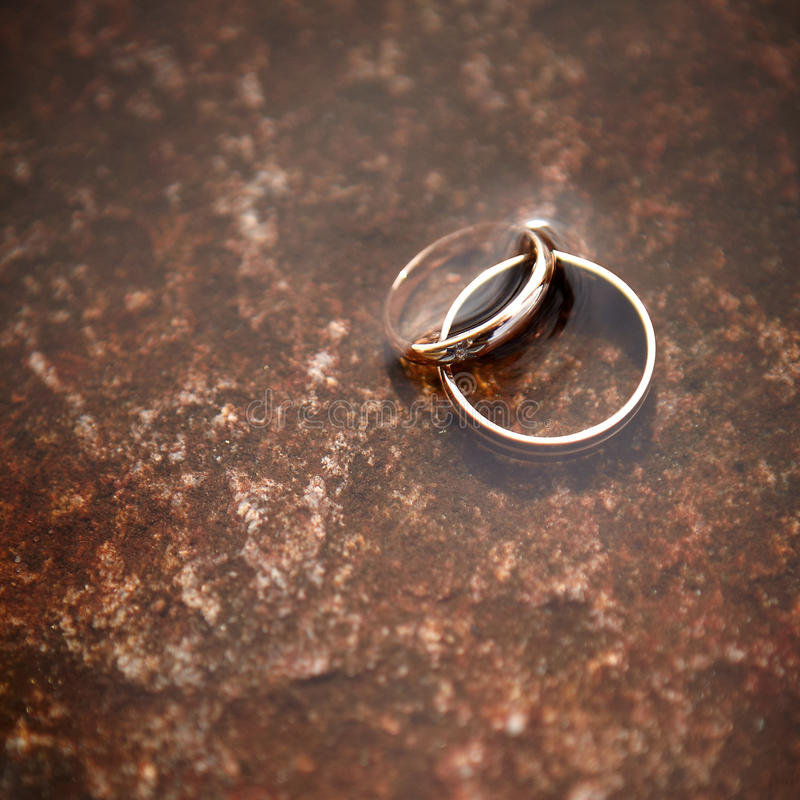 Download Wedding rings. stock photo. Image of gold, silk, decoration - 22325780