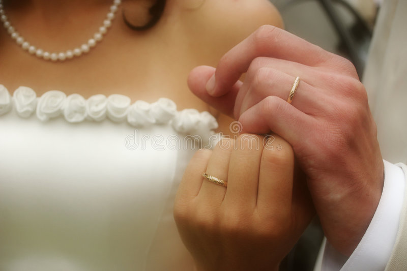 Download Wedding rings stock photo. Image of background, green - 2301756