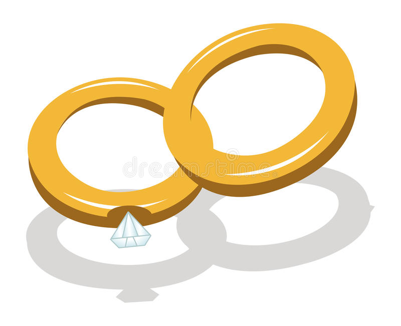 Download Wedding rings stock vector. Illustration of husband, committment - 23090537