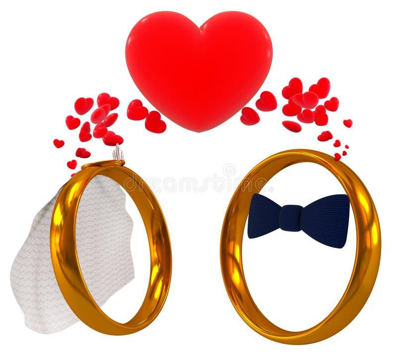 Download Wedding rings stock illustration. Image of honeymoon - 23442219