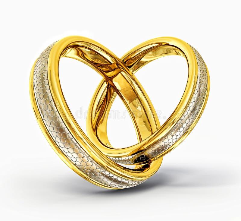 Download Wedding rings stock illustration. Illustration of golden - 25931125