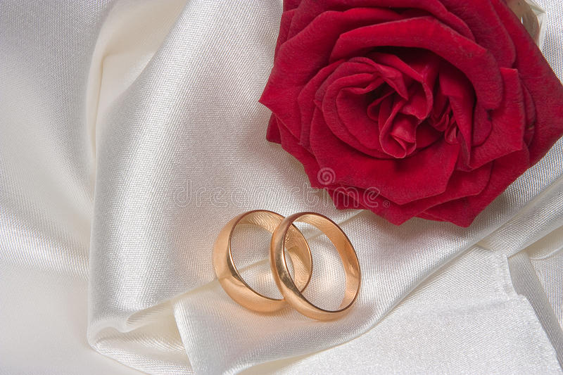 Wedding rings 3 royalty free stock photography