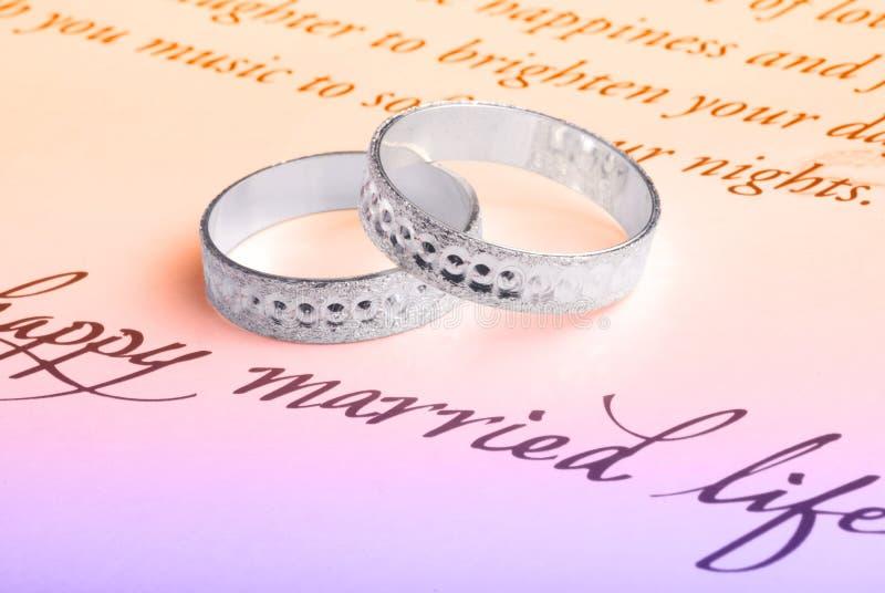 Wedding rings. Macro shot of wedding rings stock photography