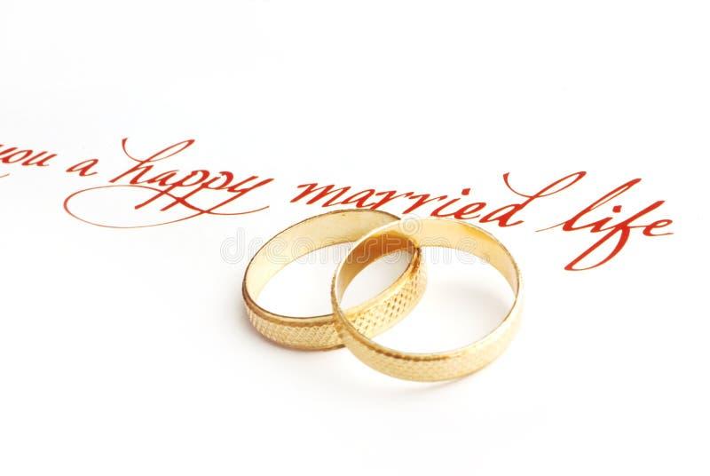 Wedding rings. Macro shot of wedding rings stock photos