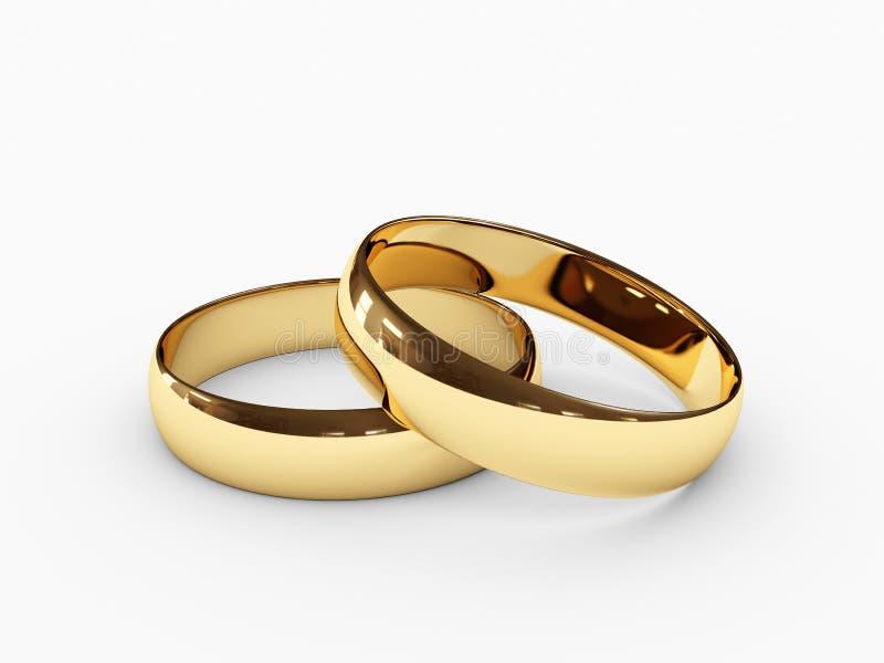 Wedding rings royalty free illustration