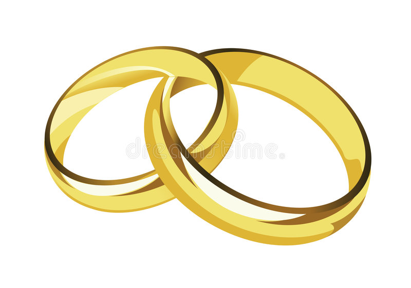 Download Wedding rings stock vector. Image of honeymoon, brightly - 4349561