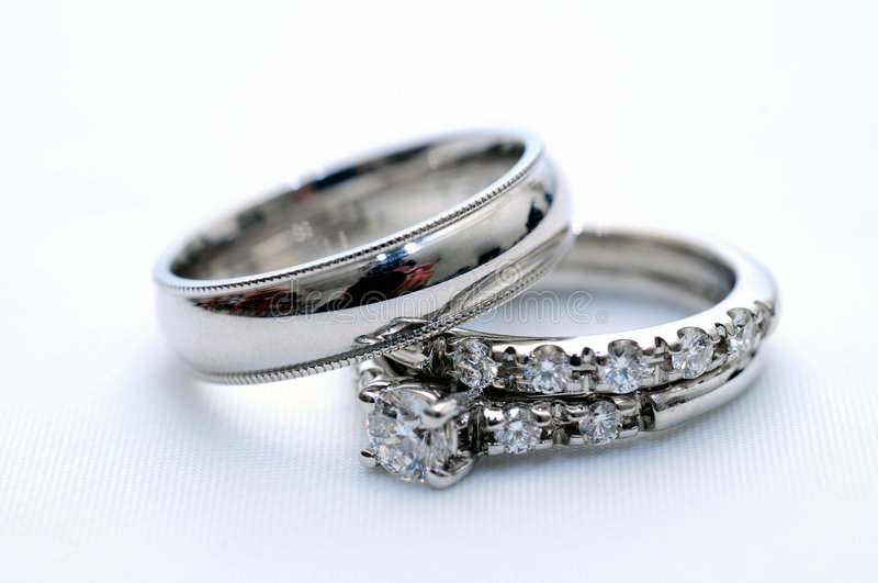 Wedding Rings. On a nice white background
