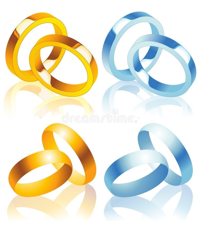 Wedding_rings illustrazione vettoriale
