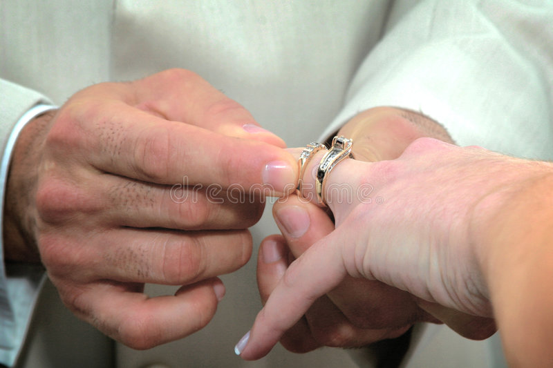 Wedding Rings. Rings at the wedding ceremony stock image