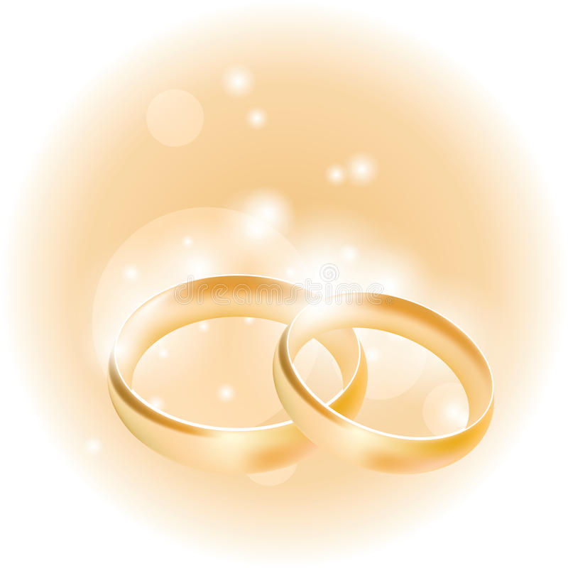 Wedding rings on an abstract background vector illustration