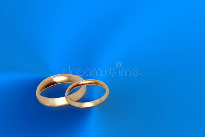 Download Wedding Rings On Blue Material. Stock Illustration - Image: 514290
