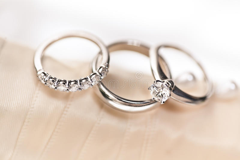 Wedding Rings on Boquet Ribbon