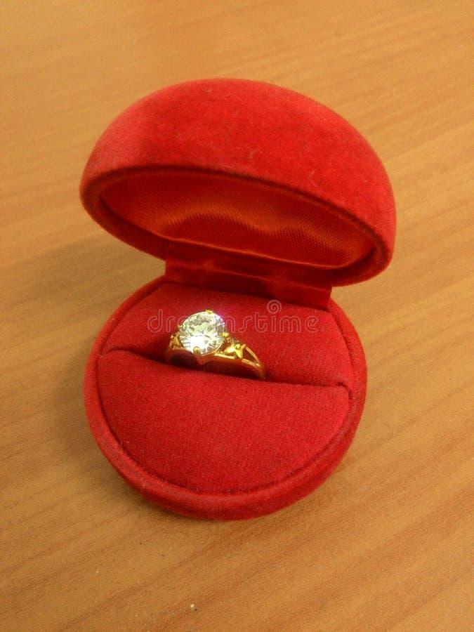 Wedding rings In the Boxiu stock image