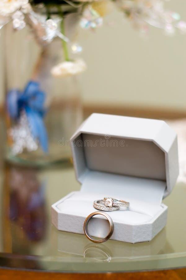 Wedding Rings & Floral Vase