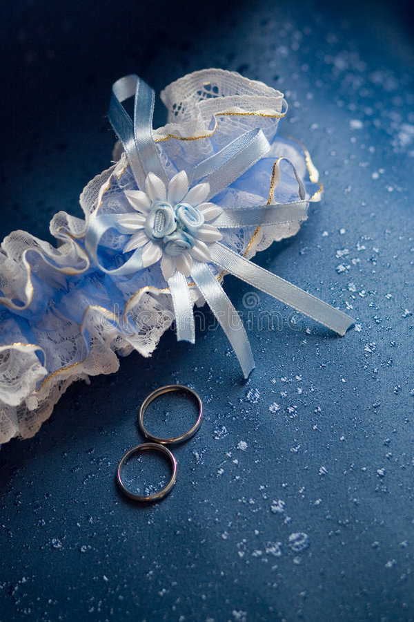 Download Wedding rings and garter stock photo. Image of clothing - 5404930