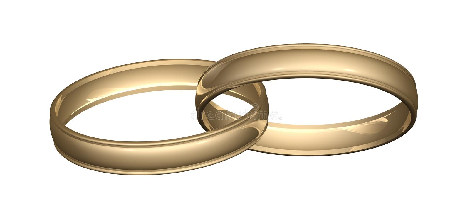 Wedding Rings Gold Stock Photo