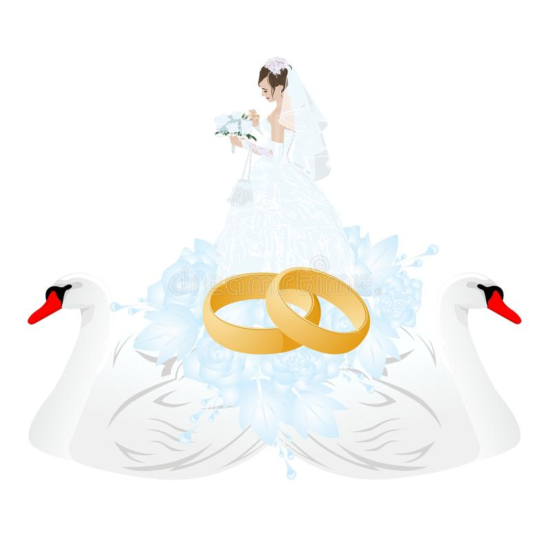 Wedding Rings And Groom Royalty Free Stock Image