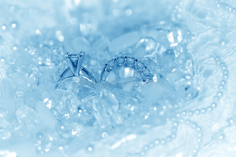 Wedding Rings - Ice on Blue Ice Series royalty free stock images