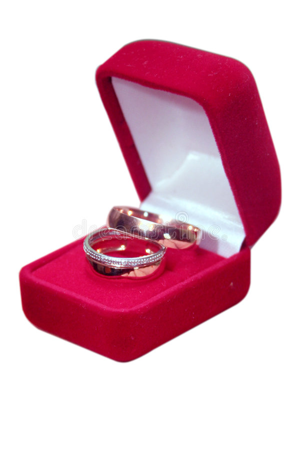 Download Wedding Rings On Isolated Background Stock Image - Image of container, metal: 4239295