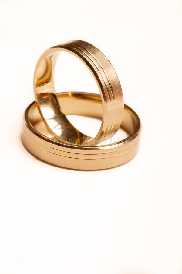 Wedding rings isolated. Picture of Wedding rings, isolated stock image
